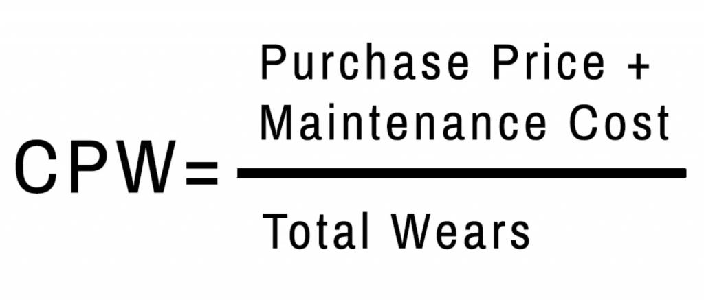 Cost per wear formula