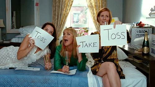 Sex and the City take/toss scene
