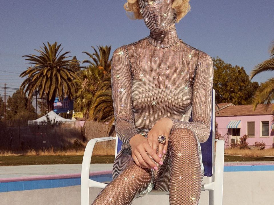 Clothing like this sparkly synthetic bodysuit contribute to the microplastic problem